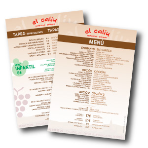 El Caliu – Carta restaurante